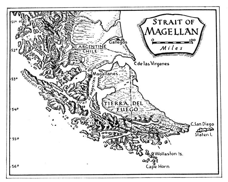 Strait of Magellan Facts for Kids - Kiddle encyclopedia